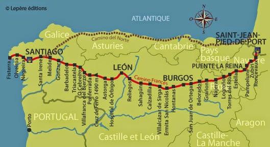 2017 El Camino de Santiago – Our Life on the Trail Camino De Santiago Trail Map on